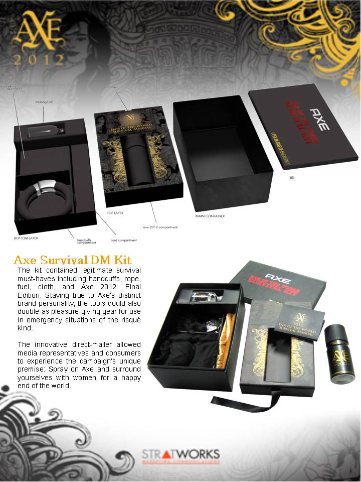 axe end of the world survival kit recognized in the 2012 philippine